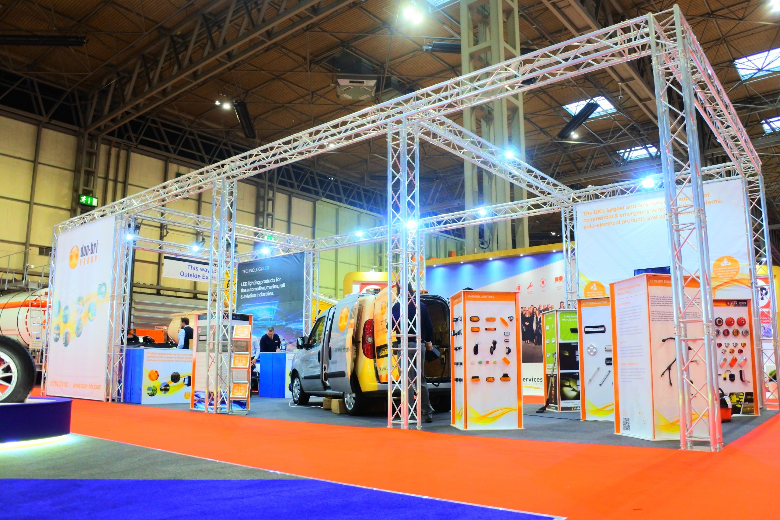 Dun-Bri Group Exhibition Stand at the NEC, Birmingham
