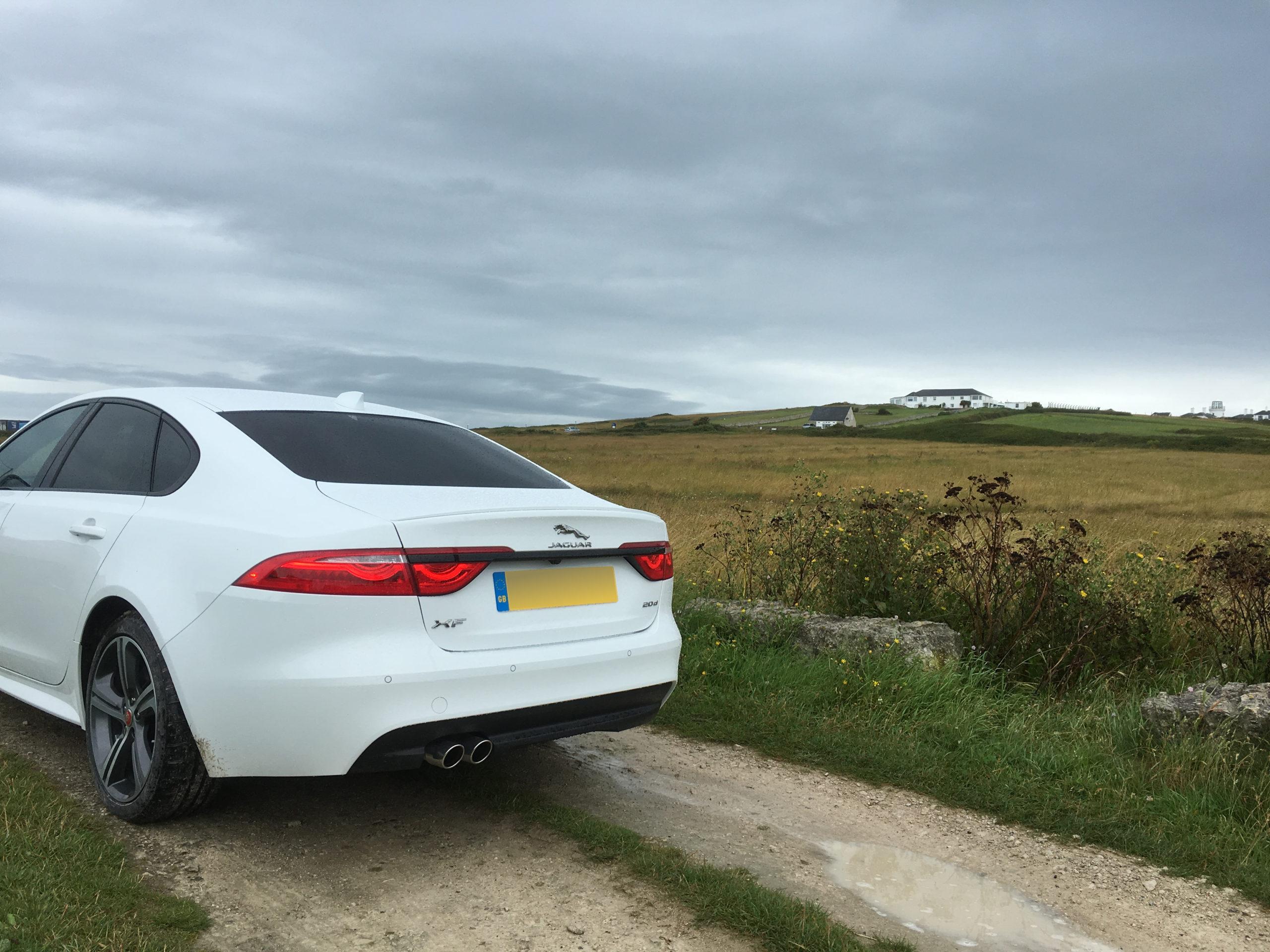 Jaguar XF at Portland Bill, Dorset