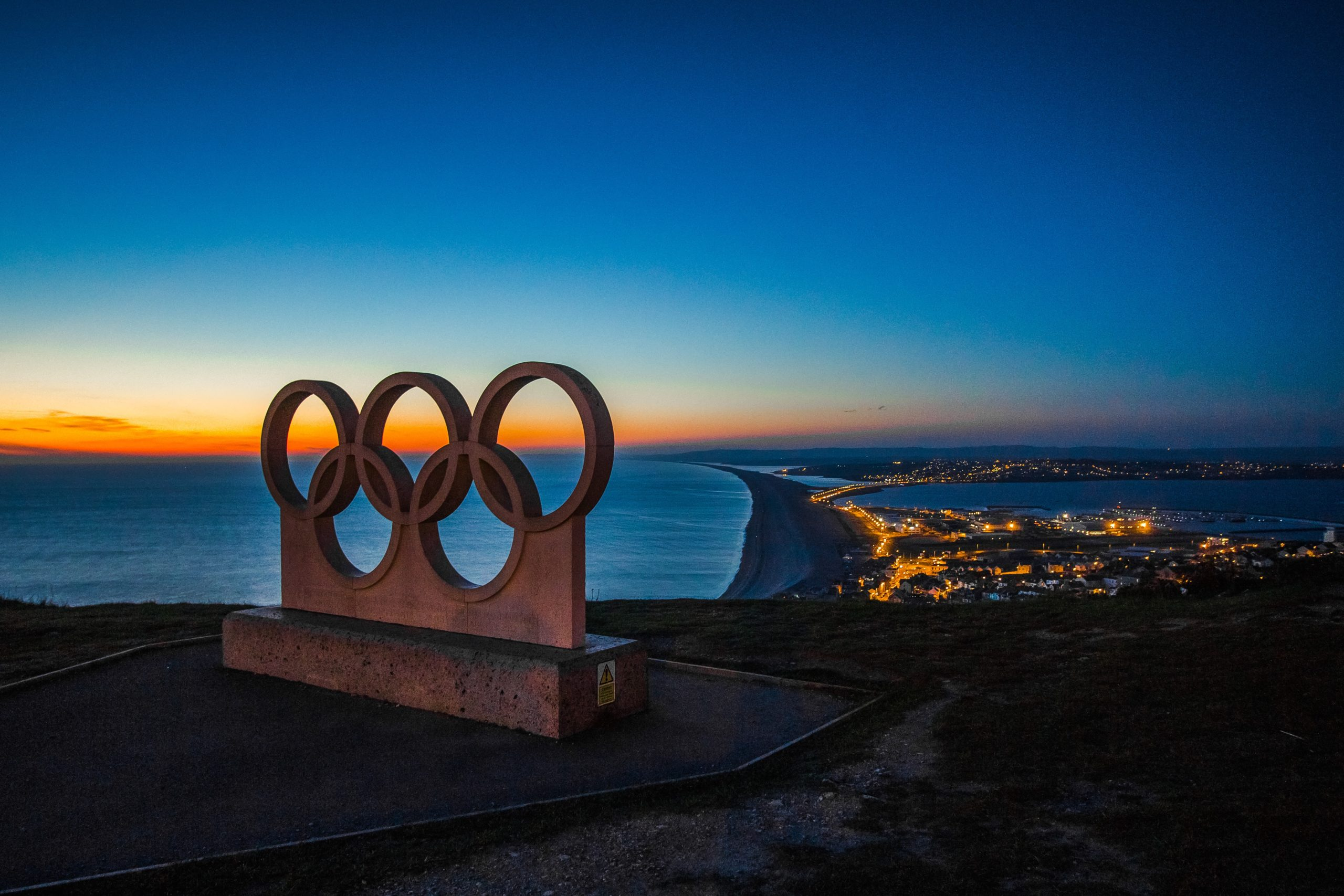 'The Olympic Rings' at Top O' The Hill, Portland, Dorset
