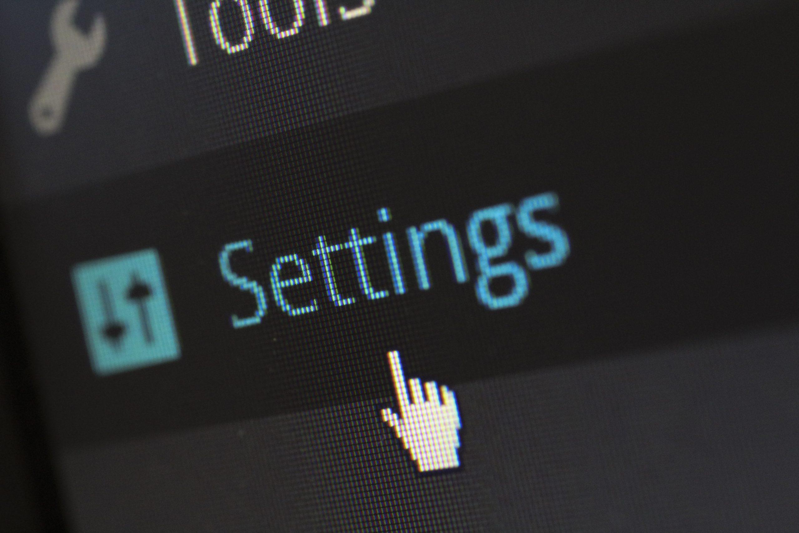 WordPress plugin & core settings
